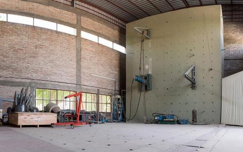 Losa de carga y muro reactivo